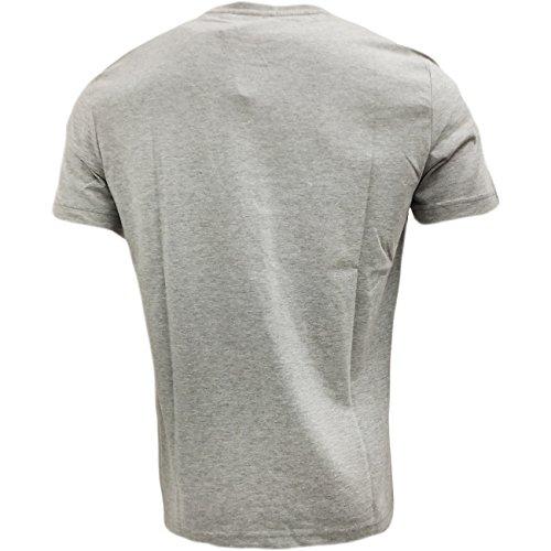 Original Penguin Herren T-Shirt, Durchgehend Weiß Weiß Grau - Rain Heather