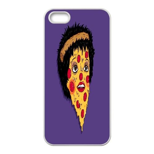 PIZZA iPhone 5,iPhone 5s Cover, Sabcase PIZZA Custom Phone Case for iPhone 5,iPhone 5s (Pizza Phone Iphone Case 5)