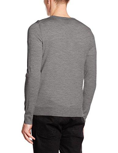 Jack & Jones Premium Jprmark Knit Crew Neck Noos, Pull Homme Gris (Grey Melange Detail:Melange)