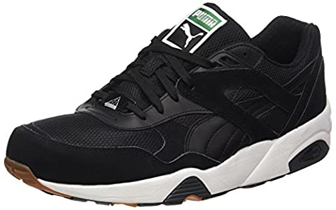 Puma R698 White, Sneakers Basses Mixte Adulte, Noir (Black-Black), 43 EU