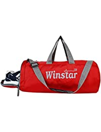 Winstar Unisex Duffle/Gym Bag With Ventilated Shoes Compartment (WI-03/Red)
