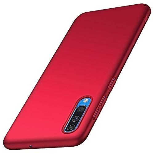 Hülle Compatible with Samsung Galaxy A50 Hülle Slim Hard PC Frosted Surface Oberfläche Anti-Kratzer Bumper Hülle für Samsung A50 Phone 2019 (Samsung A50, red) -