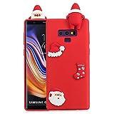 Shinyzone Samsung Galaxy Note 9 Hülle Weihnachten,Samsung Galaxy Note 9 Silikon Hülle-3D Niedlich Design Weiche TPU Rückseite [Rutschfest] Schutzhülle,Roter Weihnachtsmann