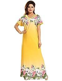 987da46f23788 TUCUTE Girls Women s Night Gown Nightwear Nighty Nightdress with Floral  Print Border