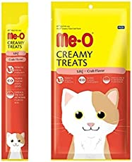 Me-O Creamy Treats (Pack of 6) with Crab for Cats and Kittens