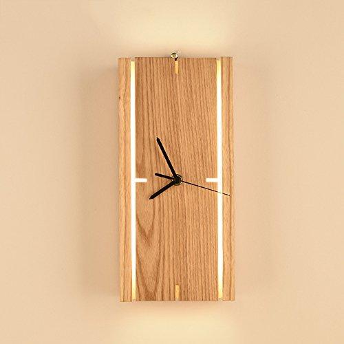 Lithx Einfache moderne Holzuhr LED Tischlampe Creative gebraucht kaufen  Wird an jeden Ort in Deutschland
