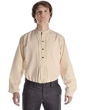 Trachtenhemd naturbeige Hemd Pfoad Isar S-XXXL Oktoberfesthemd