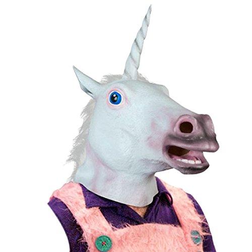 Malloom®magia látex cabeza caballo máscara / careta
