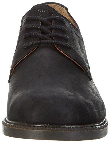 Sebago Turner Lace Up Wp, Derbys Homme Noir (Black Leather Wp)