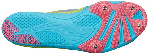 Saucony Womens Endorphin Spike Shoe Blue/Citron/Pink