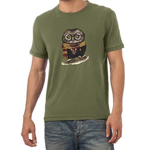 Texlab Harry Owl - Herren T-Shirt, Größe XXL, Oliv