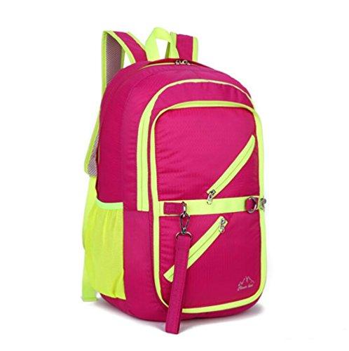 Wmshpeds Gli sport outdoor folding borsa a tracolla multifunzionale con grande capacità di piegatura zaino impermeabile ultra-light outdoor zaino pieghevole H