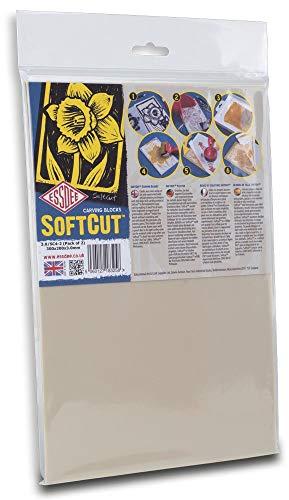 Educational Arts 3.0/SC4 3 x 300 x 200 mm Weichschnitt-Printing Block, 2 Stück - Dem Namen Mit Gummi-stempel