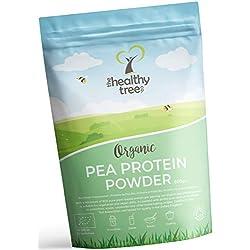Protéine de Pois BIO en Poudre - Haut contenu en acides amines et BCAAs - 80% de poudre de protéine vegan pure par TheHealthyTree Company
