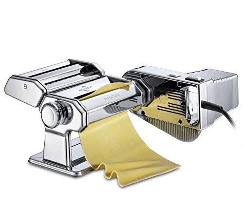 Küchenprofi Set Motor PASTACASA Nudelmaschine, Edelstahl, Silber, 31 x 24.5 x 22 cm, 2-Einheiten