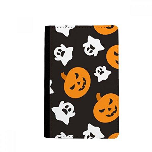 beatChong Kürbis Halloween Hallowmas Geist-Pass-Halter Travel Wallet Abdeckungs-Fall Karten-Geldbeutel