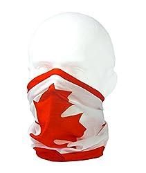 FLAG OF CANDADA / CANADIAN FLAG / MAPLE LEAF / l'Unifolié - RUFFNEK® Multifunctional Headwear / Neckwarmer for men, women & children by RUFFNEK®