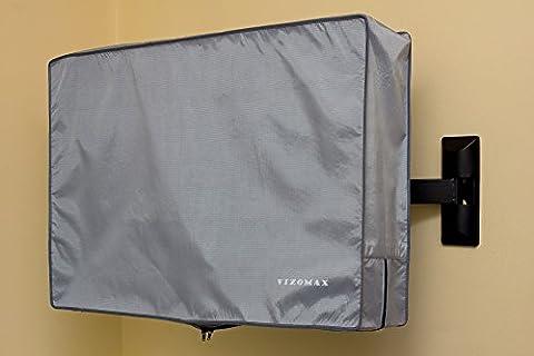 39, 40, 42, 43 pouces Vizomax tous temps TV Housse - Housse de télévision pour usage intérieur ou extérieur . TV Protecteur résistante à l'eau et à la poussière - pour écrans LCD, LED et Plasma Haute Définition - TV