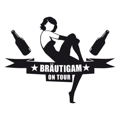 ::: BRÄUTIGAM ON TOUR ::: T-Shirt JGA ::: Herren Weiß