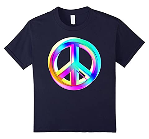 Kids Neon Colored Crossed PEACE signs T-Shirt 12