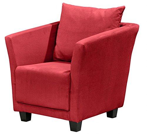 MIRO Sessel Einzelsessel Wohnsessel Polstersessel Polsterstuhl Rot