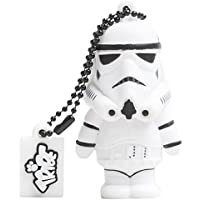 Tribe Disney Star Wars Stormtrooper USB Stick 8GB Pen Drive USB Memory Stick Flash Drive, Gift Idea 3D Figure, PVC USB Gadget with Keyholder Key Ring - White