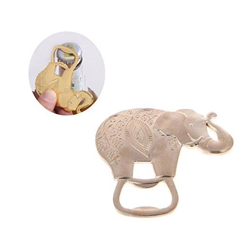 Haorw Neuheit Goldener Elefant Design Flaschenöffner, Bieröffner Kapselheber