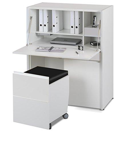 Jahnke SITWORK 300 HG-WS T.1-3 Komplett-Arbeitsplatz, E1-Spanplatten, melaminharzbeschichtet, Metall pulverbeschichtet, weiß, 101 x 54 x 125 cm