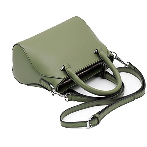 Frauen Faux-Leder-Aktenkoffer Messenger Bag Damen Handtaschen Multicolor Green