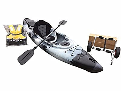 Cambridge Single Sit in Fishing Kayak with Trolley + Free Spray Deck by Cambridge Kayaks