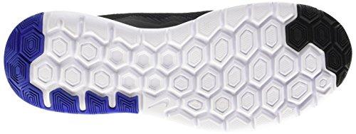 Nike Herren Flex Experience Rn 4 Laufschuhe Schwarz / Weiß / Blau (Schwarz / Weiß-Racer Blau-Weiß)