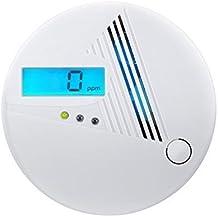 Patuoxun–Detector de monóxido de carbono CO alarma con pantalla digital LCD, funciona con pilas, para casa, dormitorio, sala de estar, sótano, garaje, Hotel, oficina etc