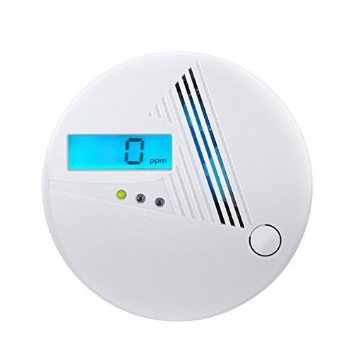 TopElek Carbon Monoxide Detector Battery Operated CO Alarm with LCD Digital Display for House, Bedroom, Living Room, Basement, Garage, Hotel, Office, Motorhome, Caravan, etc Test