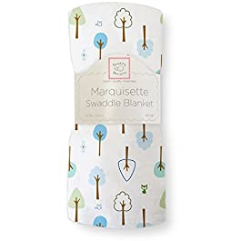 SwaddleDesigns Marquisette Swaddling Blanket, Cute and Wild , True Blue (japan import)
