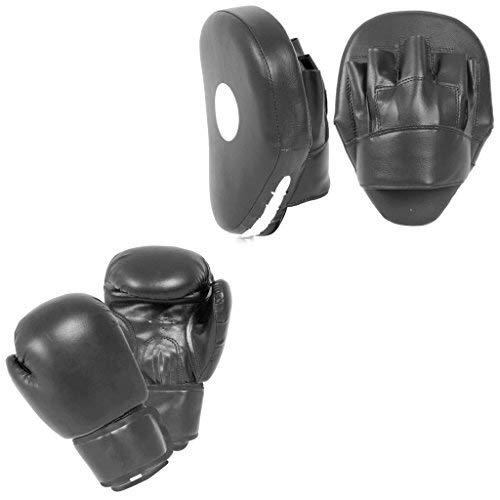 LÖWEN Martial Arts Boxhandschuhe Haken & Jab Focus Pad Boxsack Set Thai Kick MMA 14oz -