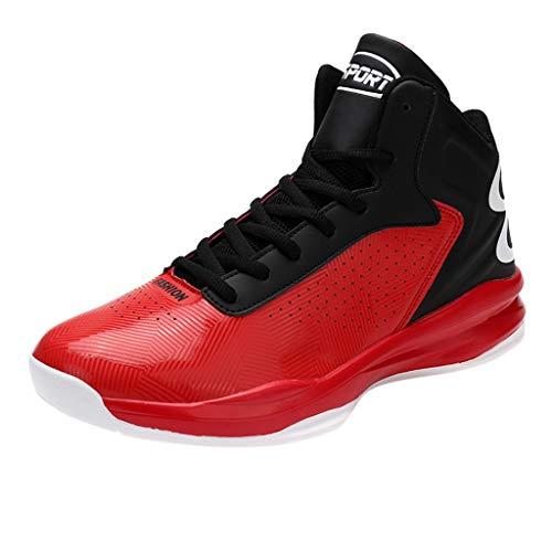 SSUPLYMY Basketball Schuhe Herren Outdoor Anti-Rutsch Sneaker Verschleißfeste Dämpfung Basketballstiefel High-Top Sportschuhe Laufeschuhe Atmungsaktiv Ausbildung Turnschuhe -