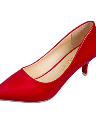 WSS 2016 Chaussures Femme-Décontracté-Noir / Rouge / Blanc-Talon Aiguille-Talons-Chaussures à Talons-Polyuréthane red-us5.5 / eu36 / uk3.5 / cn35