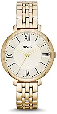 Fossil Womens Quartz Watch, Analog Display and Stainless Steel Strap ES3434