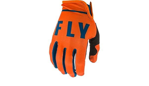 8 373-71308 Orange Navy Fly Racing 2020 Lite Motocross Gloves S