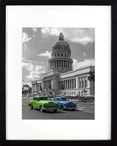BD ART 28 x 35 cm Cadre Photo avec Passe-Partout 20 x 25 cm, Noir