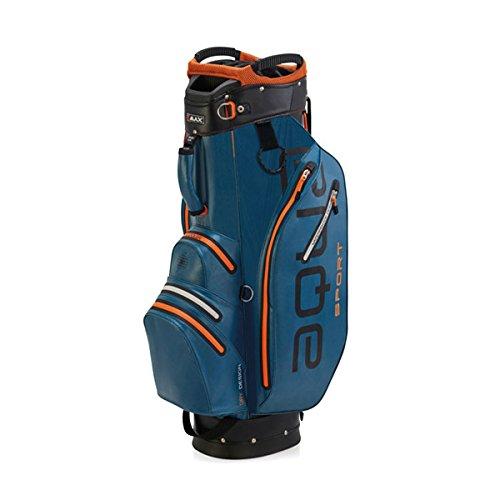 BIG MAX AQUA Sport 2 Golf Cartbag 2018 - 100% Wasserdicht (Petrol/Black/Orange) (Blau Und Orange Golf-bag)