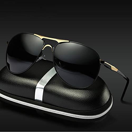 Easy Go Shopping Klassisches Design UV Cut Cross & Brillenetui mit polarisierten Sonnenbrillen Teardrop Herren Sonnenbrillen Sonnenbrillen und Flacher Spiegel