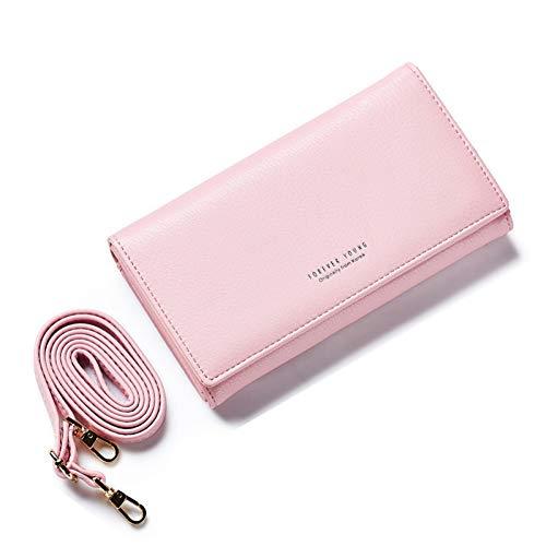 IHMBUI Frauen Umhängetasche Marke Leder Messenger Bags Handtasche Clutch Geldbörsen Clutch Wristlet Lange Brieftaschen - Marke Messenger