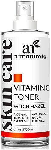 ArtNaturals Vitamin C Toner Gesichtswasser - (8 oz / 236.5 ml)- Porenverfeinernd - Gesichtsreinigung und Tonikum mit Reinem Aloe Vera, Hamamelis, Vitamin C & E
