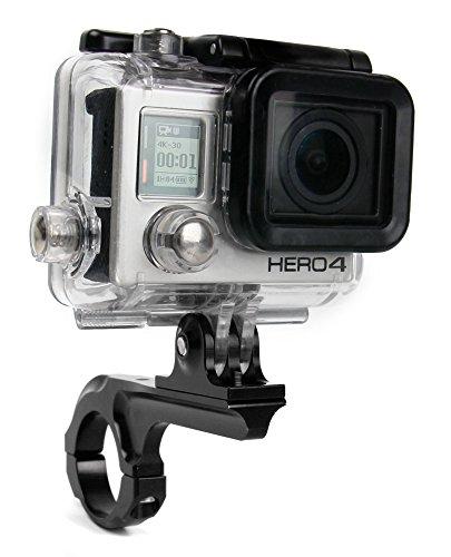 Duragadget Support et bras vélo, moto, trottinette & autres à fixer sur guidon pour caméra camescope GoPro tous modèles (1, 2, 3, HD3+, Hero4, Hero, Outdoor, HD etc.) - no