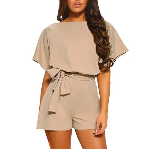 Eleganter kurzer Frauenoverall, Amoyl-Overalls Frauen-Sommerfestkleid Mini-rückenfreier Affen-Bowknot-Frauenoverall-Strandfestabend (Erwachsene 2019 Halloween-kostüme Uk)
