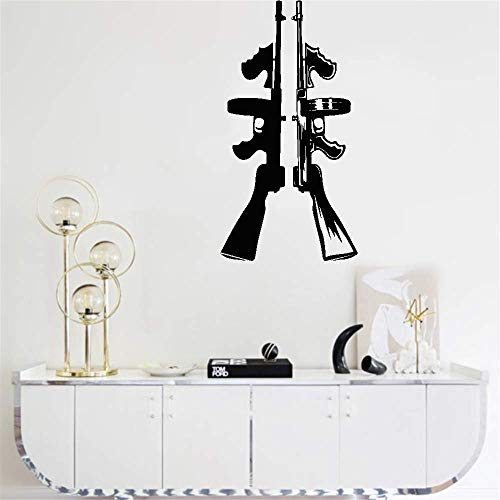 wandaufkleber spruch schlafzimmer Tommy Gun Machine Automatic Weapon Gangster For Boys Room Living Room Bedroom home decor