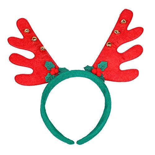 Reputedc LED Christmas Stirnband, 2 Stück Künstliche Rentier Elch Geweih Stirnband, Leuchtende Party Haarband Party Supplies