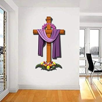 WOW Interiors PVC Jesus Cross Wall Stickers