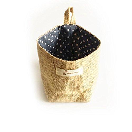 Censhaorme Wohnzimmer Lagerung Sack Stoff-Taschen Hanging Grocery Tuch Blumentopf Gehäuse Korb -